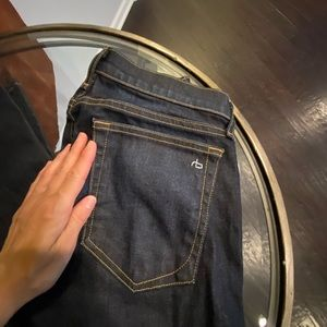 Rag and bone dark rinse jeans